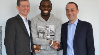 Dr Andrew Deaner, Fabrice Muamba and Dr Sam Mohiddin