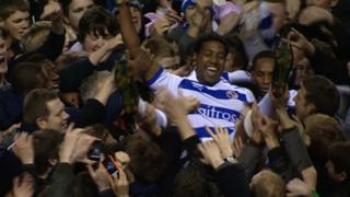 Reading celebrate promotion to the Premier League