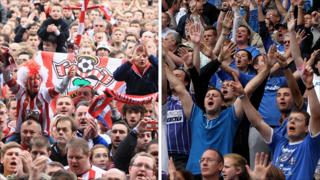Southampton and Pompey fans