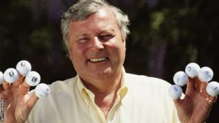 Peter Alliss is inducted into the golf Hall of Fame