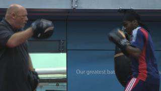 British boxer Nicola Adams (right)