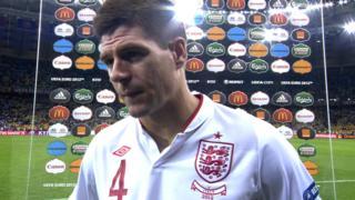 England captain Steven Gerrard
