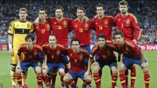 Spain starting XI Euro 2012 final