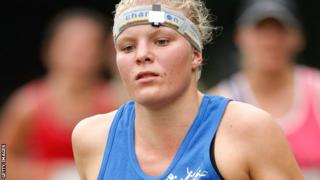 Katy Burke helped the Great Britain team to relay bronze