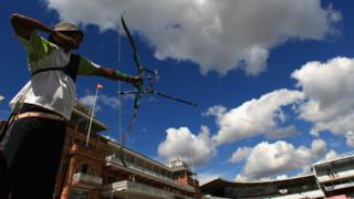 Archer in action at Lord's