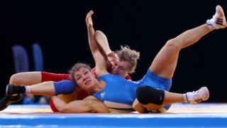 Team GB's Olga Butkevych in action
