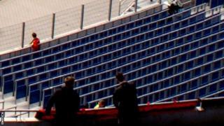 Rail seating at Hannover 96's stadium