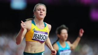 Sally Pearson in action during 100m Hurdles heat