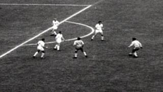 Garrincha scores against England