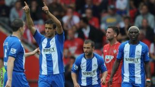 Franco di Santo's celebrates scoring the opening goal