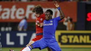 Chelsea midfielder Michael Essien