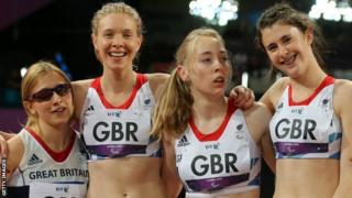 PralympicsGB's T35-38 100m relay bronze medallists