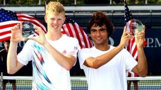 Kyle Edmund and Frederico Ferreira Silva