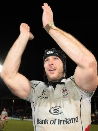 Ferris after a last-minute victory over Biarritz in the Heineken Cup at Ravenhill in 2011