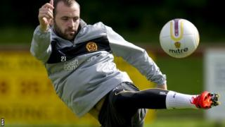 McFadden during training with Motherwell