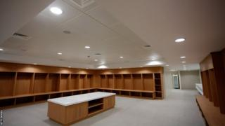 A dressing room at St George's Park