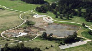 St George's Park site in 2004 when work was halted because of financial worries