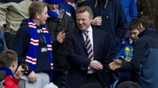 Whyte is greeted warmly by Rangers fans in happier times at Ibrox