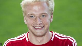 Aberdeen midfielder Jordon Brown