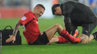 Craig Bellamy receives treatment