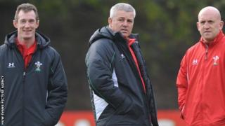Robert Howley, Warren Gatland and Shaun Edwards pictured in 2008