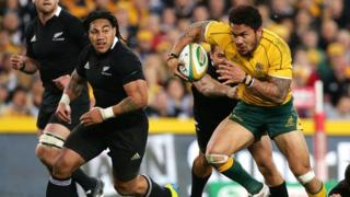 Digby Ioane in action against New Zealand