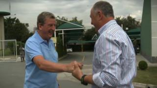 Roy Hodgson (left)