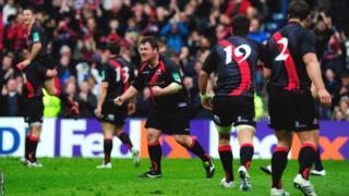 7 April - Edinburgh beat four-time European Cup champions Toulouse 19-14 at Murrayfield