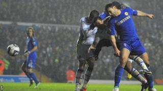 Branislav Ivanovic scores for Chelsea at Leeds