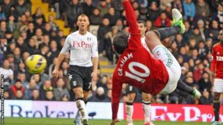 Danny Graham acrobatically volleys Swansea into the lead at Fulham