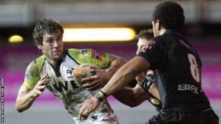 Andrew Bishop tries to evade Toby Faletau