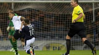 Kelvin Wilson clashes with John Baird