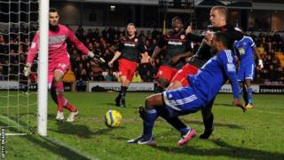 Matthew Barnes-Homer equalises for Macclesfield