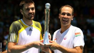 Colin Fleming (left) and Bruno Soares won in New Zealand