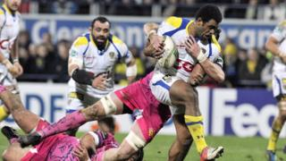 Giant Fiji winger Napolioni Nalaga on the charge for Clermont