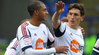 Bolton's Keith Andrews (right) celebrates his equaliser