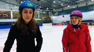 Amy Williams (left) and Elise Christie