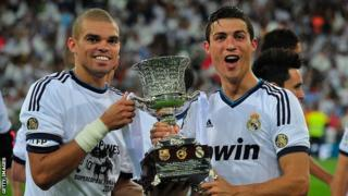 Pepe and Cristiano Ronaldo