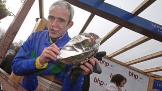 Ruby Walsh after winning the 2013 Irish Champion Hurdle on Hurricane Fly
