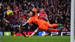 Stoke keeper Asmir Begovic