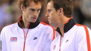 Andy Murray and Leon Smith