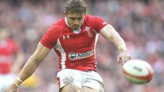 Leigh Halfpenny kicks against Ireland