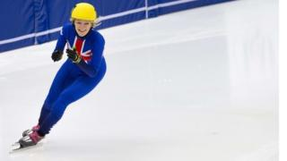 Great Britains Elise Christie takes charge of the ice