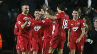 Southampton celebrate win over Man City