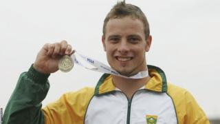 Oscar Pistorius wins gold in 100m, 200m and 400m at the Paralympic World Championships in Netherlands.