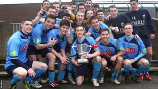 UCD celebrate their Collingwood Cup triumph last year