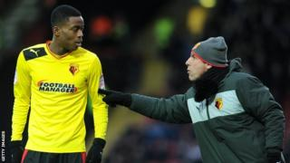 Watford Gianfranco Zola (right) with on-loan Nathaniel Chalobah