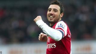 Arsenal playmaker Santi Cazorla