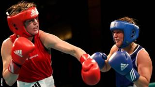 Katie Taylor had an easy win over Maike Kluners