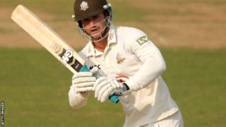 Tom Maynard batting for Surrey